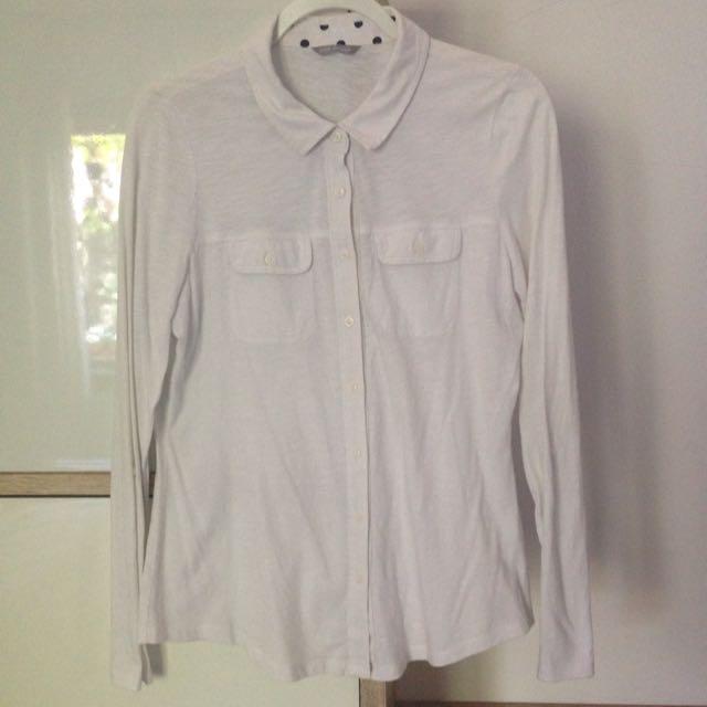 Marks & Spencer White Cotton Shirt