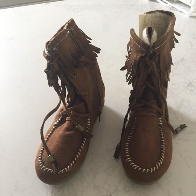 Moccasin Boots Brand New