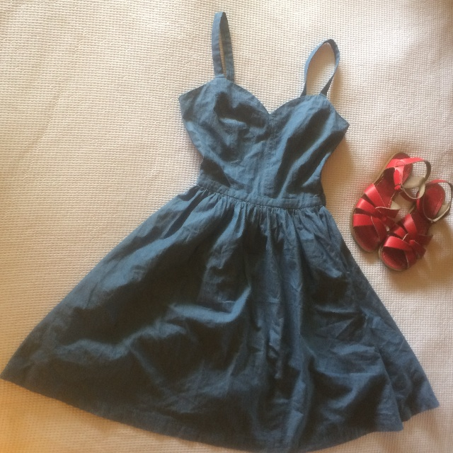 Modcloth Denim Blue Summer Dress XS