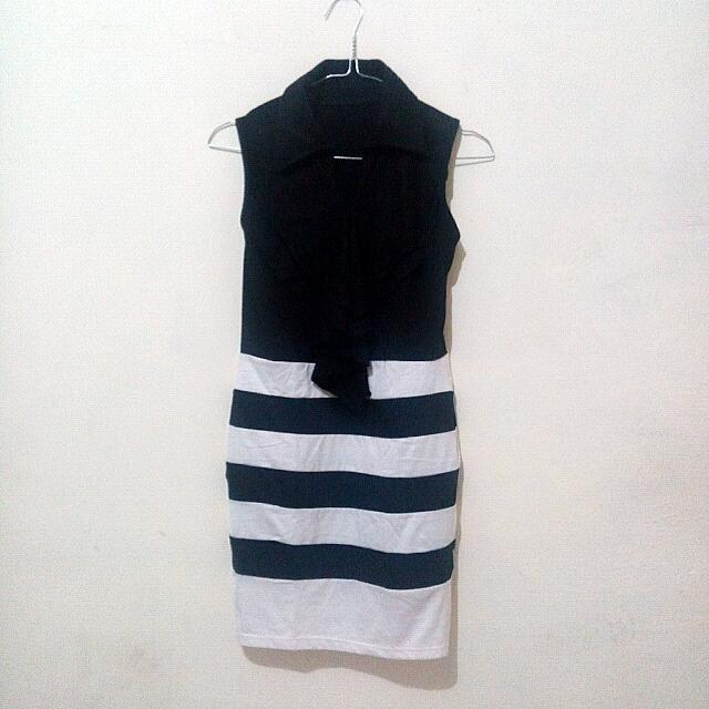 Reprice Monochrome Dress