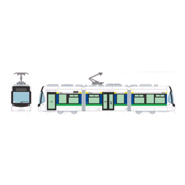 [N 1/150] Japanese Tram Toyama Chitetsu Railroad Type T 101 First Formation [Tomytec] NEW