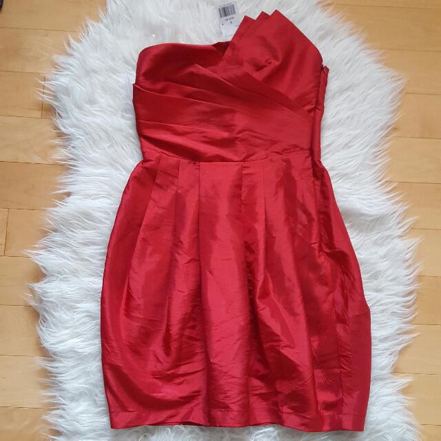 New W Tags Forever 21 Red Silk Dress