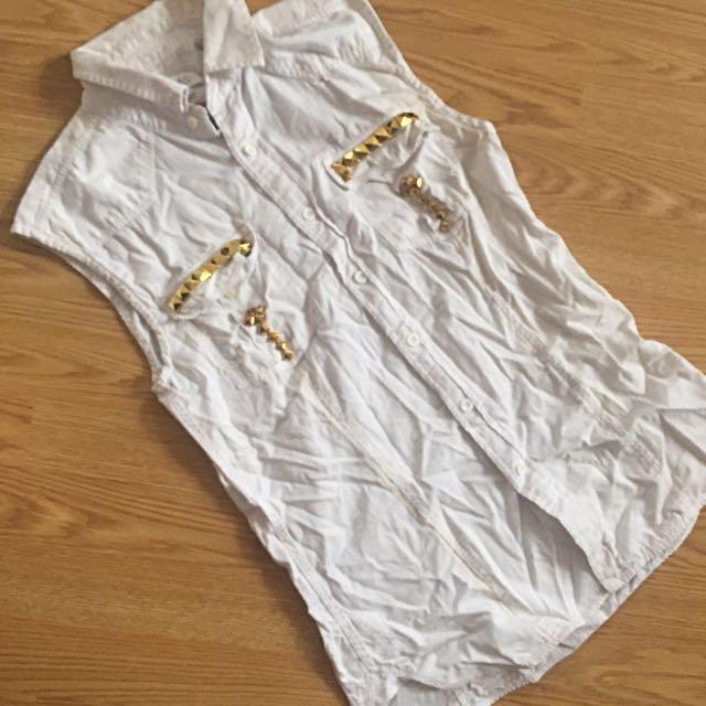 Oversized Padinj Sleeveless Casual/ Bikini Cover