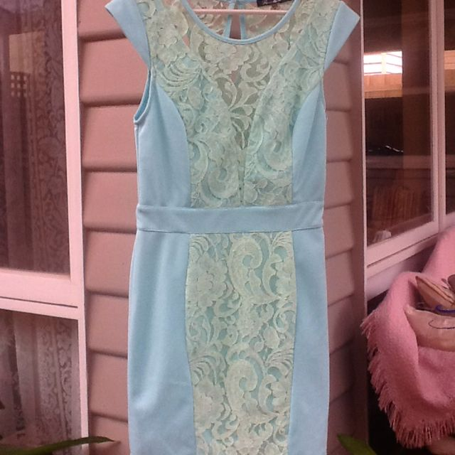 PARADISCO Pastel Green Dress. Size 8