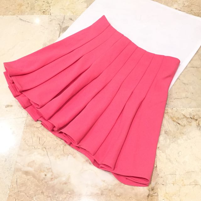 Pink A Line Skirt By H&M