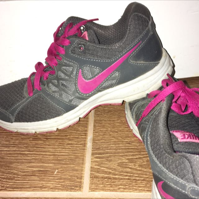 Pink And Grey NIKE Running Shoes