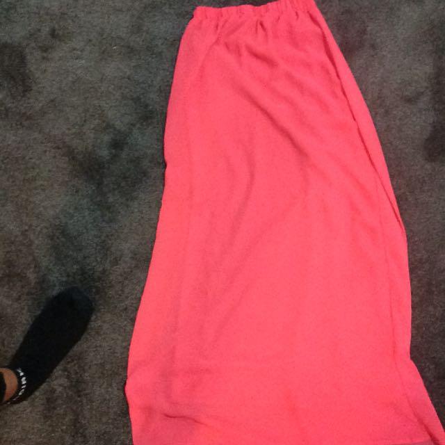 F21 Pink Maxi Skirt