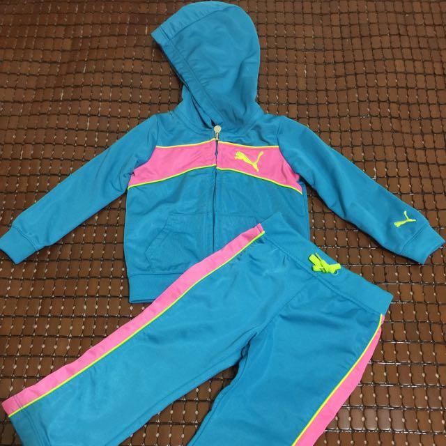 正品PUMA 女童運動套裝