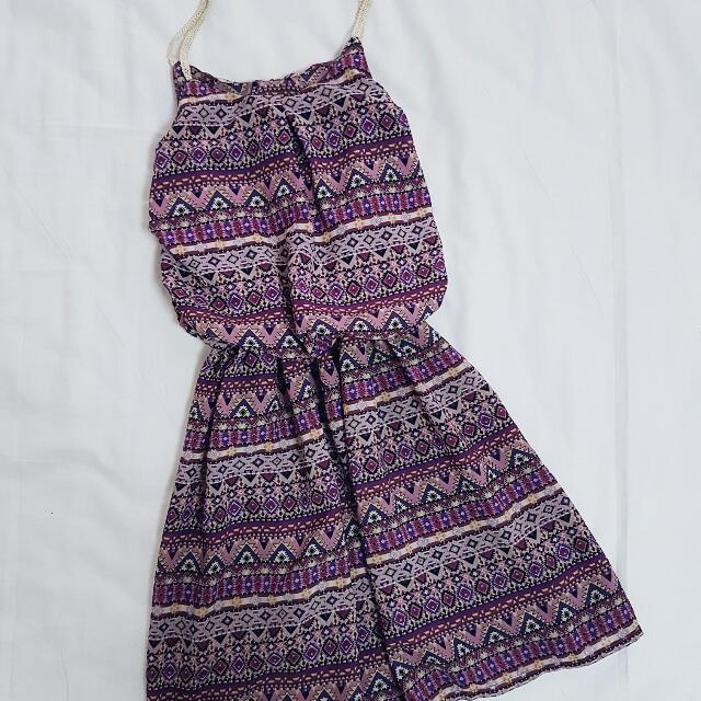 Purple Aztec Dress