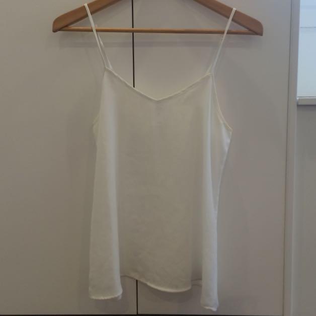 Sheer White Singlet - Size 8
