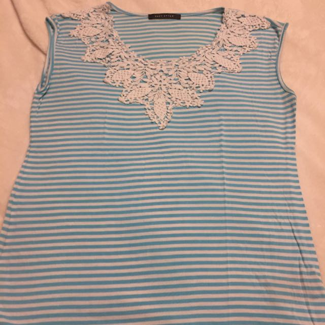 Suzy Shier Crochet Top  Size M