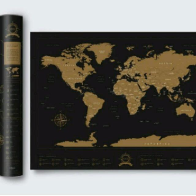 The original new wonders of the world edition travel scratch map photo photo gumiabroncs Image collections