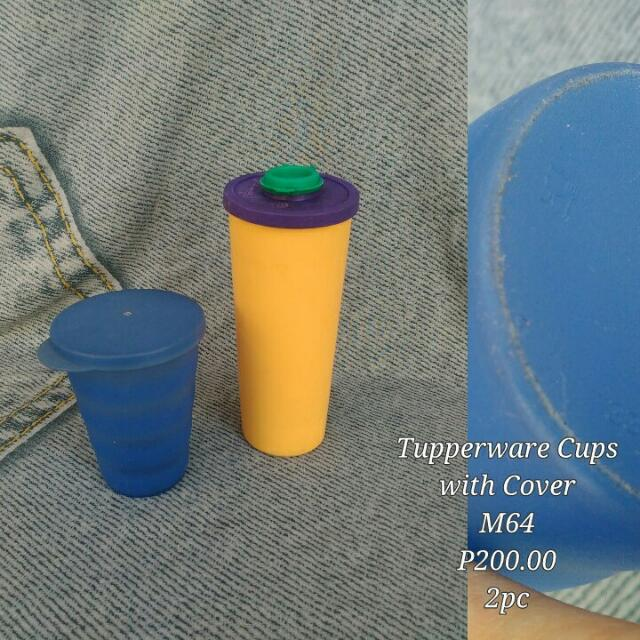Tupperware Cups With Cover