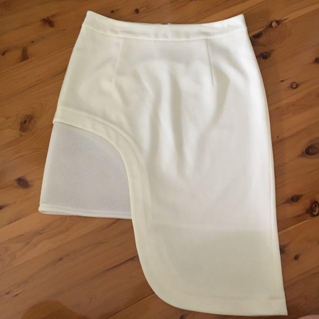White Statement Skirt
