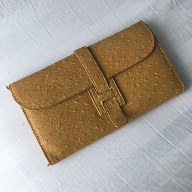 Yellow Clutch/Purse With Card Slots