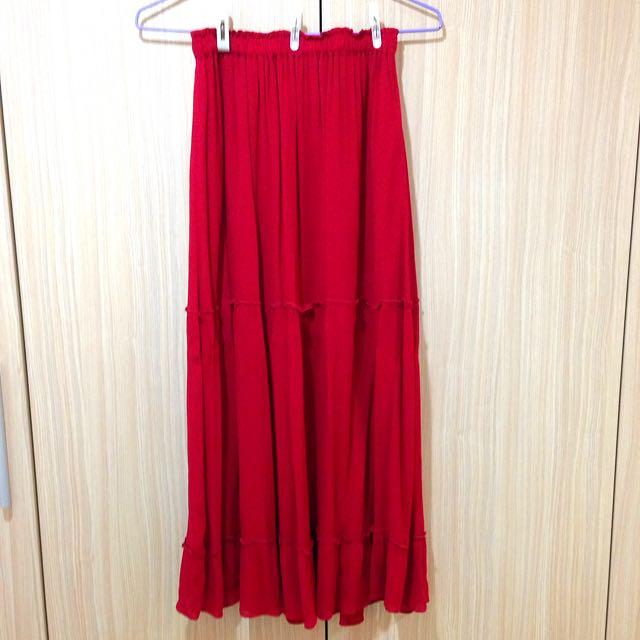 Zara 9成新雪纺长裙 (含運費$450)