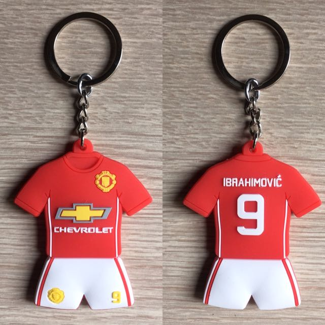 new product 35014 454d2 Zlatan Ibrahimovic Manchester United Jersey keychain