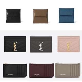 YSL Chanel Hermes Cardholder