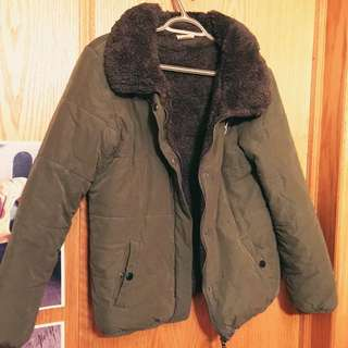 Army Green Cotton Padded Jacket