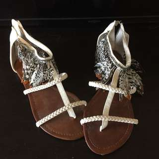 Cute Feathered Sandals