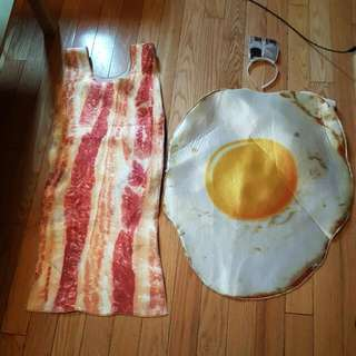 Adult Costumes Halloween Bacon And Egg