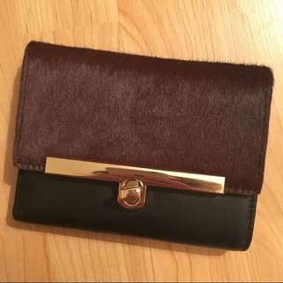 BNWT Danier Ponyhair & Leather Wallet