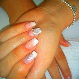 Faded French With Any Nail Art  :)