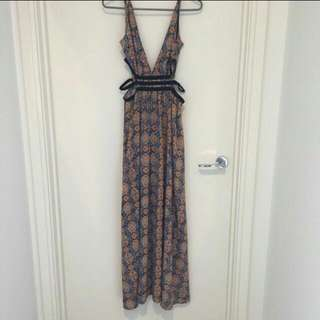 Morning Mist Cut Out Maxi Dress