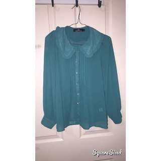 Green/Blue Blouse