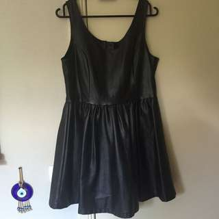 Faux Leather Look Dress Size 14