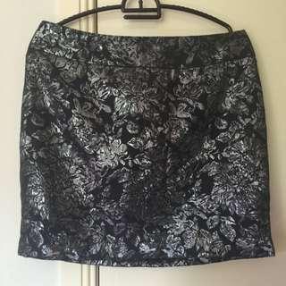 Silver Forever 21 Skirt