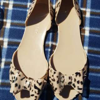 Holster Leopard Jelly Bow Tie Flats