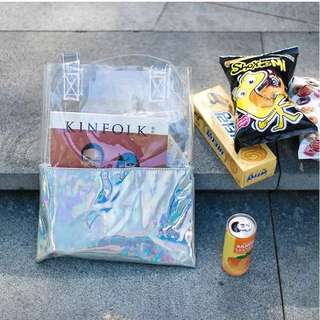 Ready Stock Hologram Tote Bag