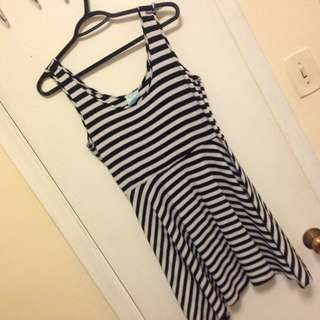 Stripped Mini Dress L/G