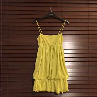 People Are People Yellow Bubble Dress