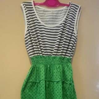 Black and Green Polka Dress