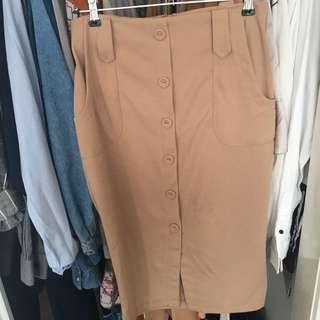 *Pending* Lily Whyt Brand Beige Skirt
