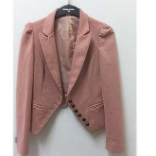 《降價》 【正韓】粉色百搭短外套