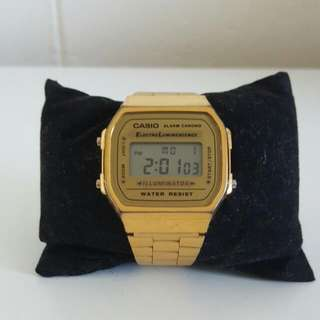 Casio Vingate Unisex Digital Watch Gold