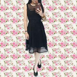 Alannah Hill Black Cotton Blend Lace Dress