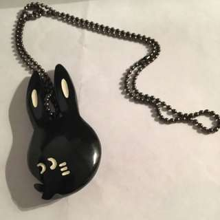 Né.net Bunny Pendant With Long Chain