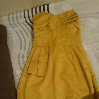 Golden Cocktail Dress