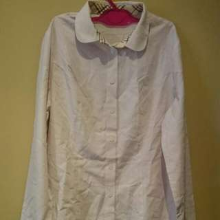 Light Pink Woman's Long Sleeves Polo