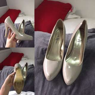 Nude Closed Toe Heel