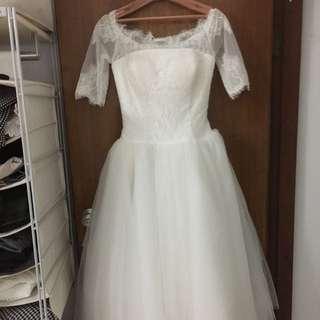 平口九分蓬裙白紗 婚紗 禮服 是新的!