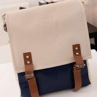 Korea Style Pu Leather Backpack.