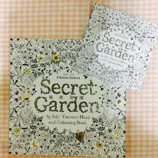🚗代售🚗[全新] 秘密花園著色本(附練習小冊)