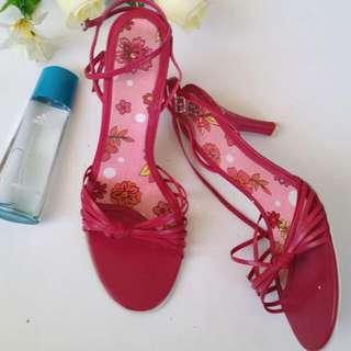 RMK Pink Heels. Leather Upper Size 9