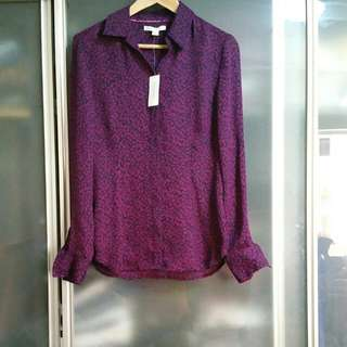 Banana Republic Purple/Black Top Size 6