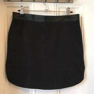 Glue Leather look skirt Size S